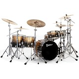 PREMIER North American Maple Shell Drum Kit Elite Series [Full Kit] - Gold Sparkle Fade Lacquer - Drum Kit